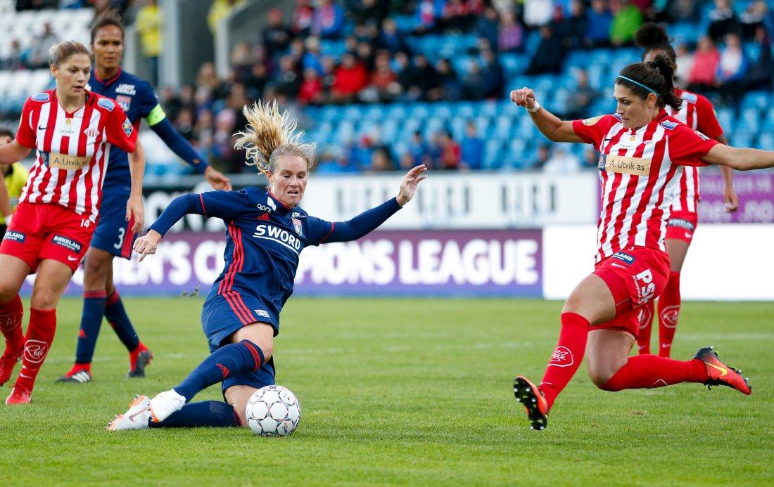 Avaldsnes mot Lyon i 16.-delsfinalen i Champions League. FOTO Jan Kåre Ness, NTB.jpg